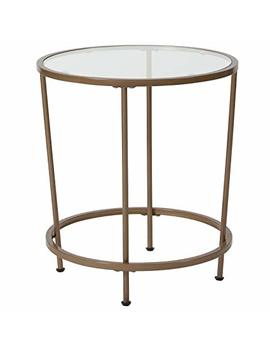 Flash Furniture Astoria Collection Glass End Table With Matte Gold Frame by Flash Furniture