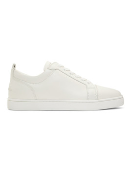 White Louis Junior Sneakers by Christian Louboutin
