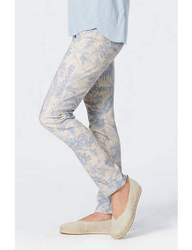 Authentic Fit Printed Slim Leg Jeans by J.Jill
