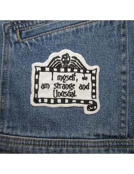 Strange And Unusual Patch, Inspired By 'beetlejuice' Movie. Iron On Patch. Michael Keaton. Tim Burton. Embroidered Film Patches. Horror. by Etsy