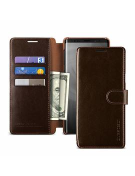 Note 9 Case, Vrs Design [Brown] 3 Cards Pu Leather Wallet [Layered Dandy] Phone Case Flip Folio Wallet Cover For Samsung Galaxy Note 9 (2018) by V Vrs Design