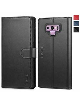 Galaxy Note 9 Case, Note 9 Wallet Case, Tucch [Credit Card Holder] [Book] [Flip] [Slim] [Stand] Pu Leather Case [Tpu Interior Case] [Magnetic Closure] Compatible With Galaxy Note 9, Black by Tucch