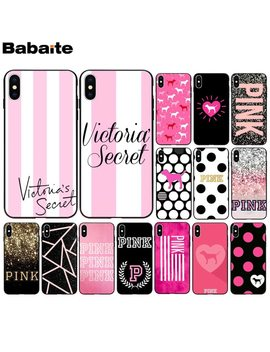 Babaite Pink Love Pink Soft Silicone Black Phone Case For Apple I Phone 8 7 6 6 S Plus X Xs Max 5 5 S Se Xr Mobile Cover by Babaite