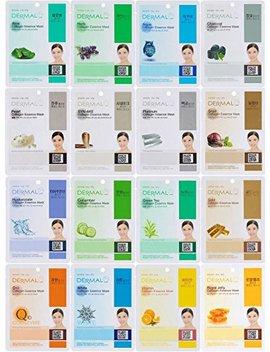 Dermal Collagen Essence Full Face Facial Mask Sheet, 16 Combo Pack A by Dermal