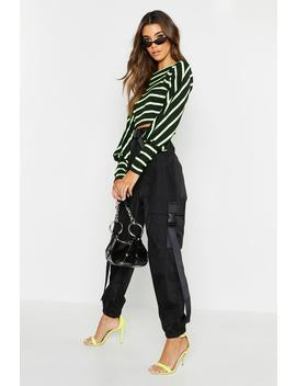 Shell Cargo Safety Buckle Trousers by Boohoo