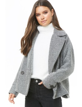 Veste Rayée à Double Boutonnage by Forever 21