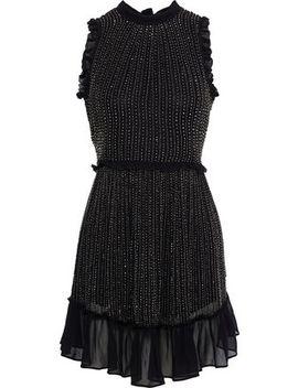 Bead Embellished Georgette Mini Dress by Love Sam