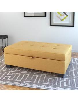 Cor Living Antonio Fabric Upholstered Storage Ottoman by Cor Living