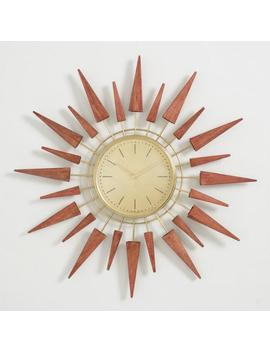 Wood Spokes Mid Century Wall Clock by World Market