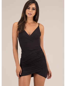 Wrap It Up Tulip Hem Minidress by Go Jane