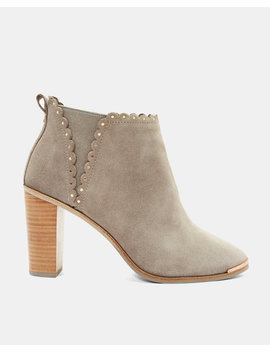 Scallop Stud Detail Heel Boots by Ted Baker