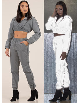 Flash Mob Reflective 2 Piece Jogger Set by Go Jane