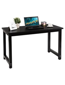Chefjoy Computer Desk Pc Laptop Table Wood Workstation Study Home Office Furniture (Black 1) by Chefjoy