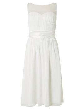 **Showcase White Bridal 'penelope' Midi Skater Dress by Dorothy Perkins
