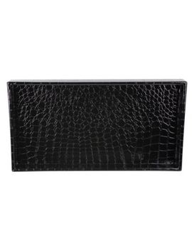 Crocodile Vanity Tray In Black by Bed Bath And Beyond