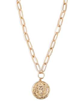 Lion Medallion Necklace by Forever 21