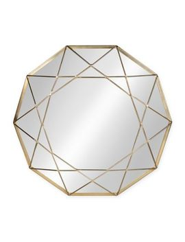Kate And Kaurel Keyleigh 24 Inch Round Mirror In Gold by Bed Bath And Beyond