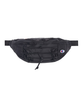 Black Lace Up Logo Belt Bag by Champion Reverse Weave