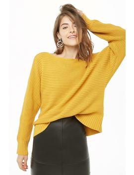 Ribbed Boat Neck Jumper by Forever 21