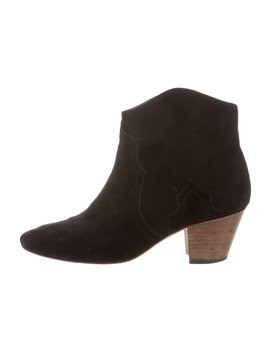 Dicker Suede Ankle Boots by Isabel Marant
