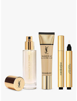 Yves Saint Laurent Touche Éclat Foundation B30 Almond, Highlighter 2 And Primer With Gift (Bundle) by Yves Saint Laurent