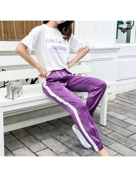 Deedlit   Short Sleeve Letter T Shirt / Harem Sweatpants by Deedlit