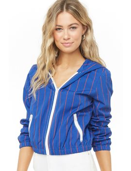 Striped Hooded Jacket by Forever 21