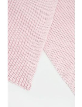 Pink Ribbed Knit Scarf by Prettylittlething