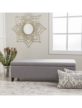 Gable Fabric Storage Ottoman By Christopher Knight Home by Christopher Knight Home