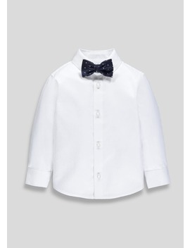 Boys Occasion Shirt & Bow Tie Set (6mths 5yrs) by Matalan