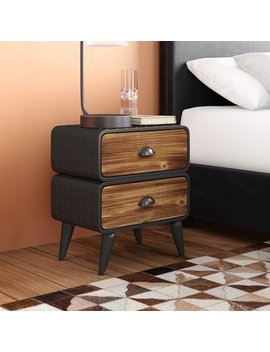 Williston Forge Krish Rounded 2 Drawer Nightstand & Reviews by Williston Forge