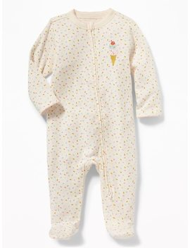 Printed Footed One Piece For Baby by Old Navy