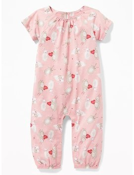 Valentine Print Raglan One Piece For Baby by Old Navy
