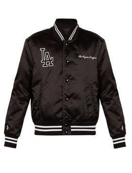 L.A. Dodgers Embroidered Bomber Jacket by Marcelo Burlon