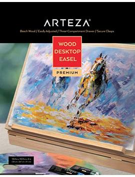 Arteza Wooden Desktop Easel With Drawer And Palette, Ideal For Portable Sketching, Drawing, And Painting With A Variety Of Mediums by Arteza