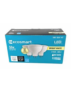 Eco Smart 50 W Equivalent Bright White Mr16 Gu5.3 Dimmable Led Light Bulb (3 Pack) by Amazon