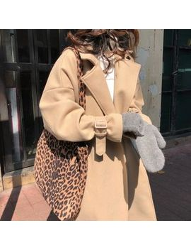 Piwonia   Open Front Woolen Coat by Piwonia