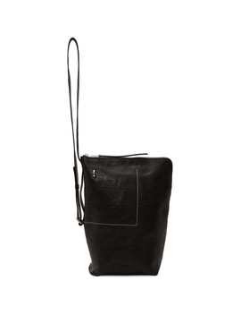 Black Small Bucket Backpack by Rick Owens