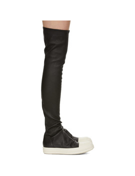 Black Stocking Sneaker Boots by Rick Owens
