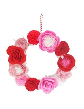 Valentine's Day Felt Floral Wreath With Iron Base   Spritz™ by Spritz