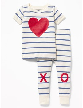 "Heart ""Xo"" Graphic Sleep Set For Toddler &Amp; Baby by Old Navy"
