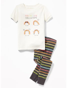 2 Piece Rainbow Sleep Set For Toddler & Baby by Old Navy