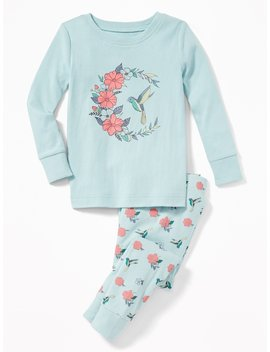 Bird Graphic Sleep Set For Toddler Girls &Amp; Baby by Old Navy