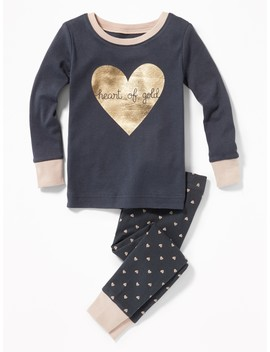 """Heart Of Gold"" Sleep Set For Toddler Girls &Amp; Baby by Old Navy"