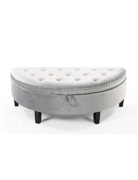 House Of Hampton Bloodworth Half Moon Tufted Storage Ottoman by House Of Hampton