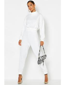 Roll Neck Sweat Tracksuit by Boohoo