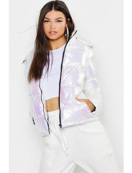 Pearlescent Puffer Jacket by Boohoo