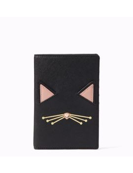 Bnwt Kate Spade Jazz Things Up Imogene Cat Passport Holder Cover Cardholder 🐱 by Kate Spade