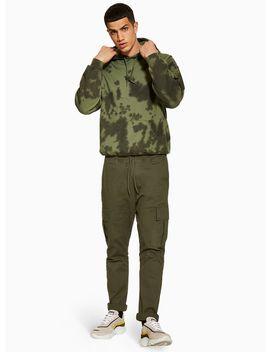 Antioch Khaki Elasticated Cargo Pants* by Topman