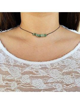 Aventurine Choker, Choker Necklace, Green Chips Choker, Healing Crystal, Crystal Necklace, Healing Necklace, Gemstone Choker, Boho Choker by Etsy